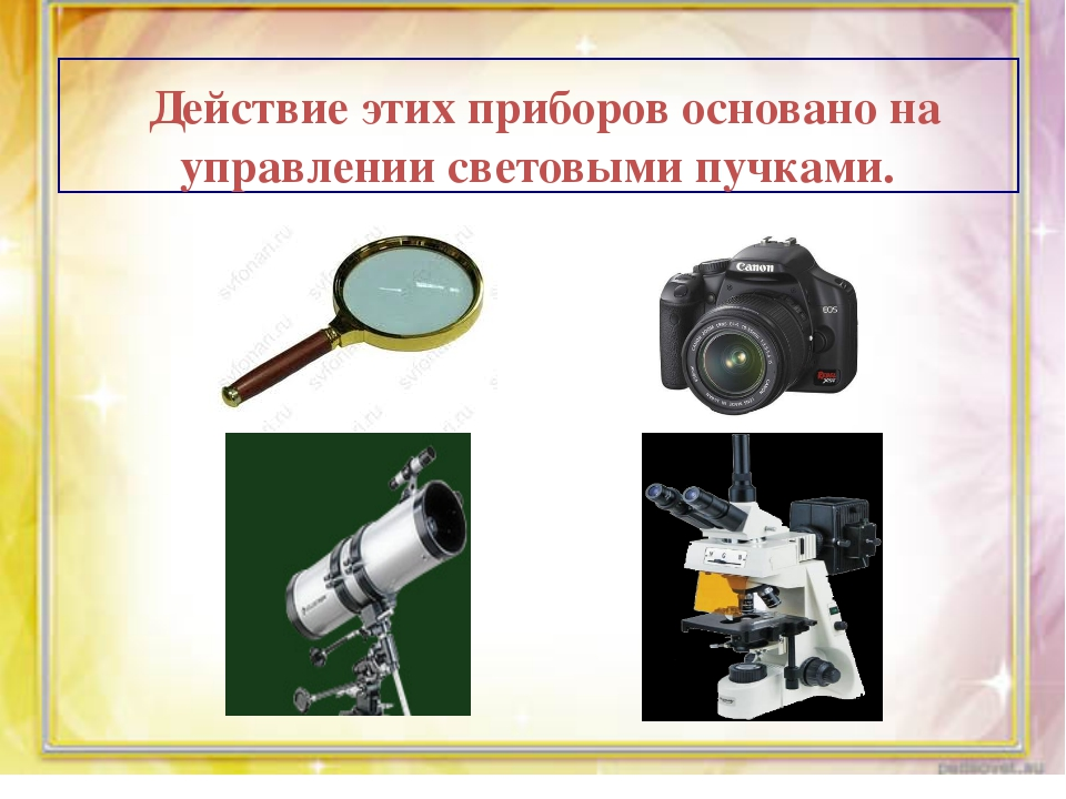 Действие этих приборов основано на управлении световыми пучками.