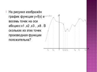 На рисунке изображён график функции у=f(х) и восемь точек на оси абсцисс:х1 ,