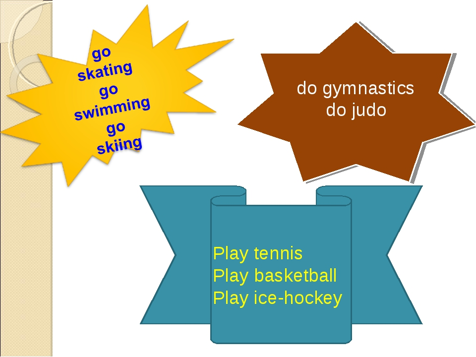 do gymnastics do judo Play tennis Play basketball Play ice-hockey