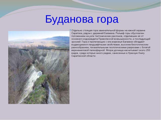 Буданова гора Отдельно стоящая гора замечательной формы на южной окраине Сар...
