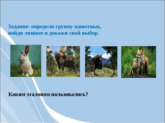 Задание: определи группу животных, найди лишнее и докажи свой выбор. Каким эт...