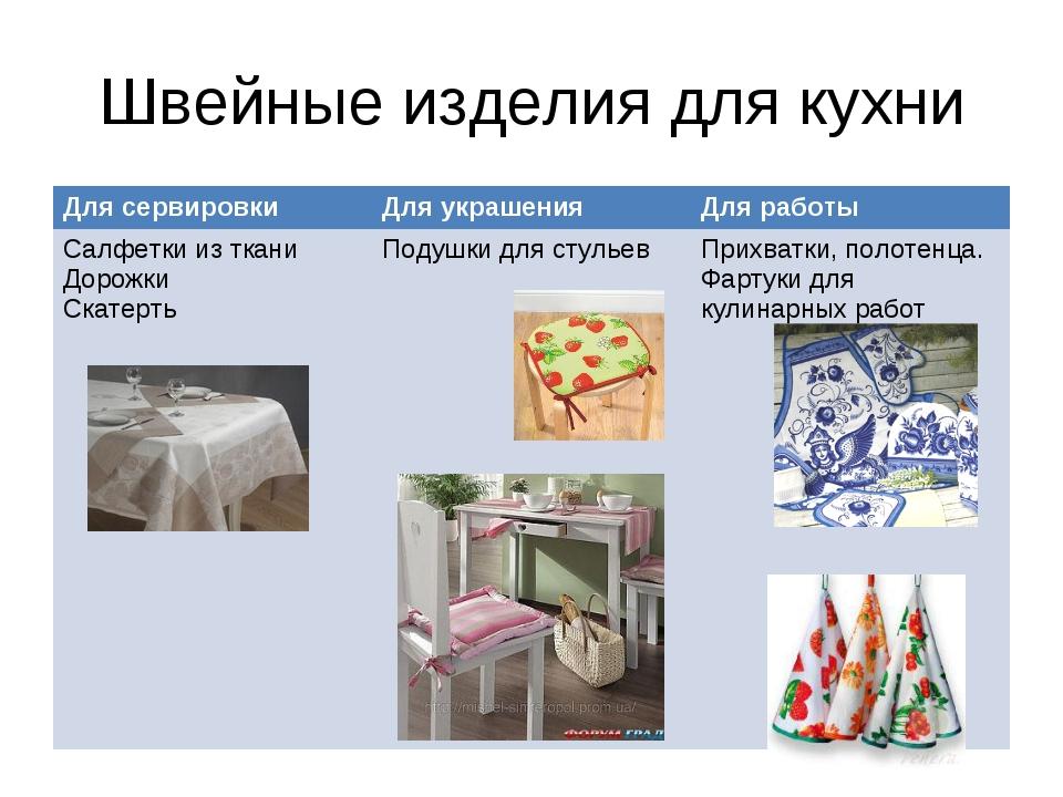 Швейные изделия для кухни Для сервировкиДля украшенияДля работы Салфетки из...
