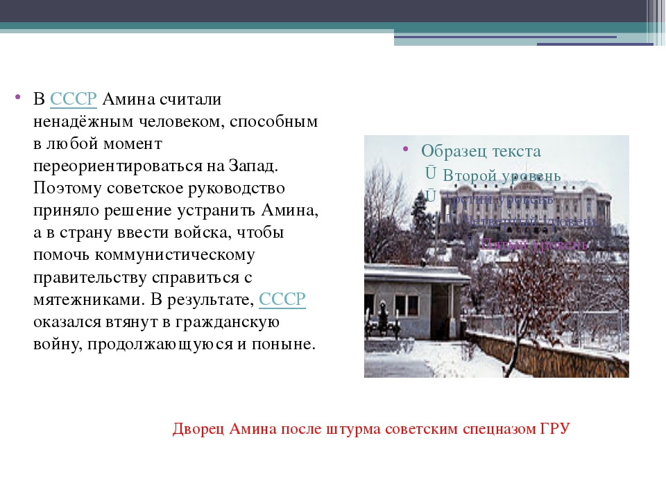 В СССР Амина считали ненадёжным человеком, способным в любой момент переорие...