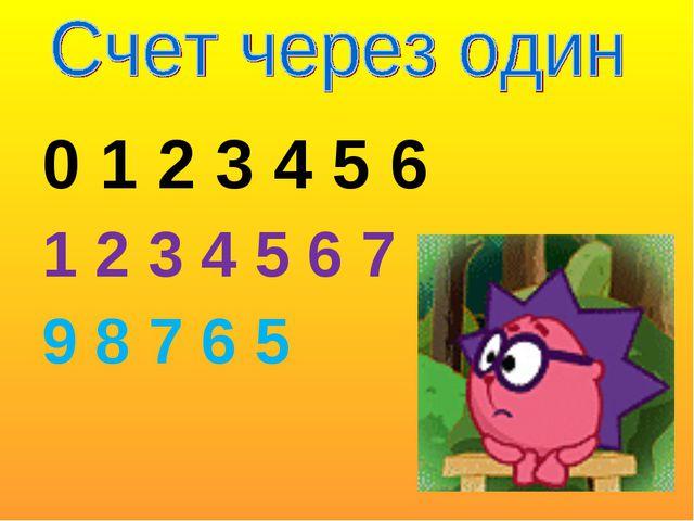 0 1 2 3 4 5 6 1 2 3 4 5 6 7 9 8 7 6 5