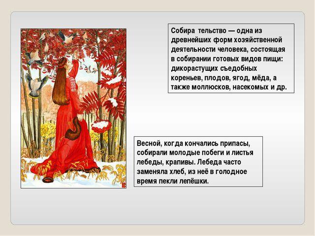 Собира́тельство — одна из древнейших форм хозяйственной деятельности человека...