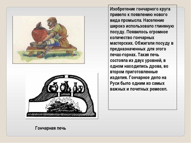Гончарная печь Изобретение гончарного круга привело к появлению нового вида п...
