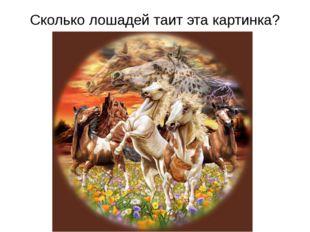Сколько лошадей таит эта картинка?