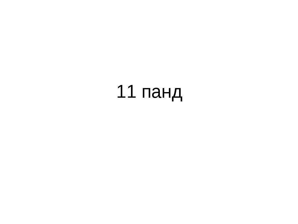 11 панд