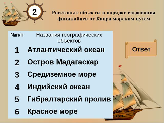 Путешественники древности тест