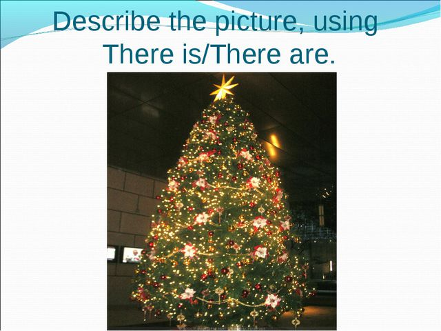 Describe the picture, using There is/There are.