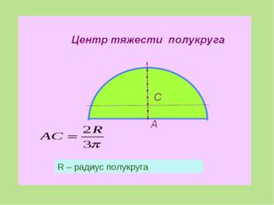 R – радиус полукруга