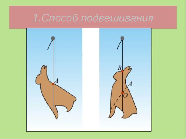 1.Способ подвешивания