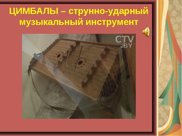 ЦИМБАЛЫ – струнно-ударный музыкальный инструмент
