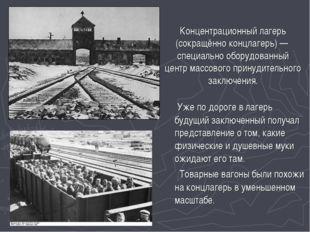 Концентрационный лагерь (сокращённо концлагерь) — специально оборудованный це