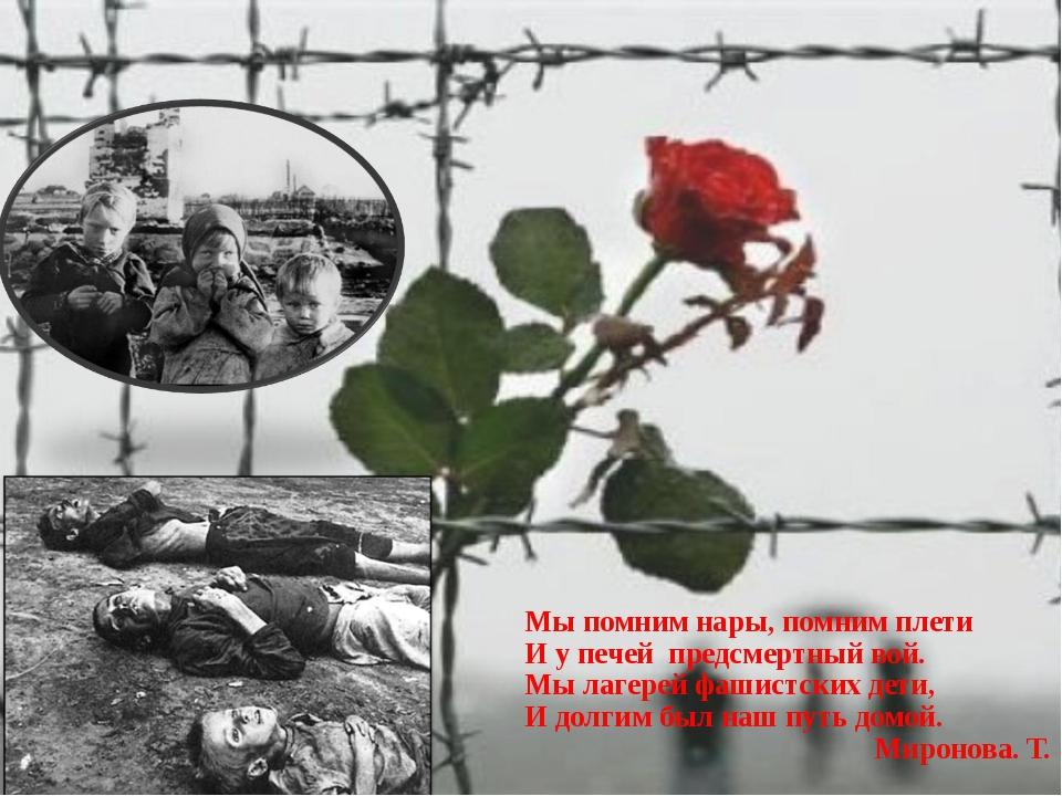 Открытка узникам концлагерей