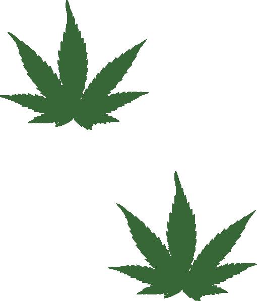 Cannabis Leaf Stencil