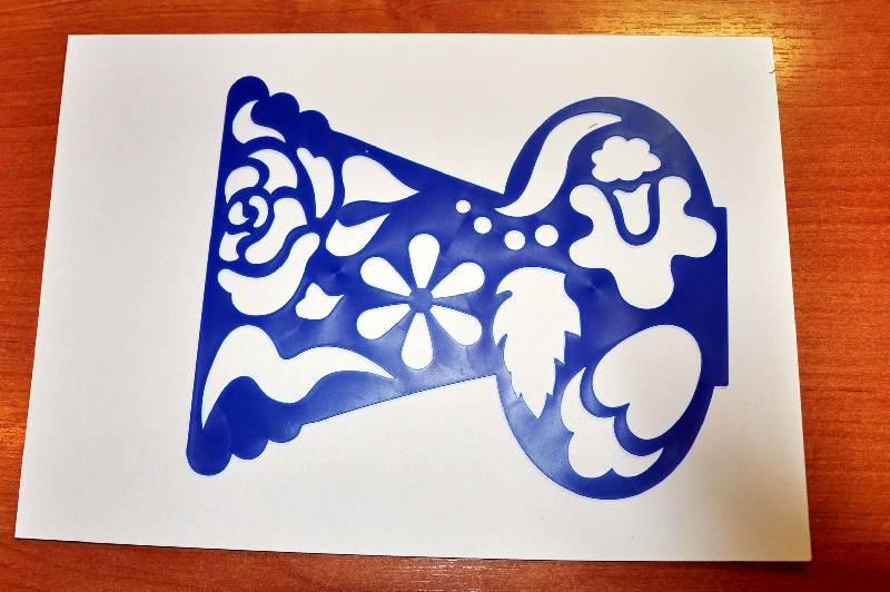 Иллюстрация 3 из 7 для Трафарет фигурный. Ваза с цветами Лабиринт - игрушки. Источник: Ассоль