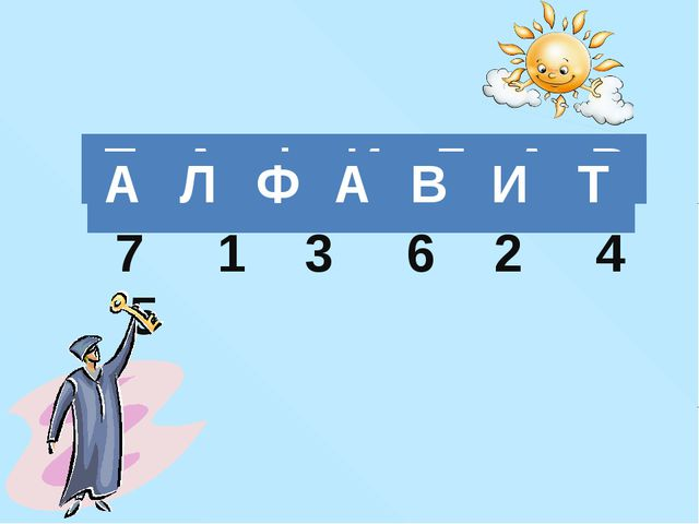 7 1 3 6 2 4 5 Т А Ф И Л А В А Л Ф А В И Т