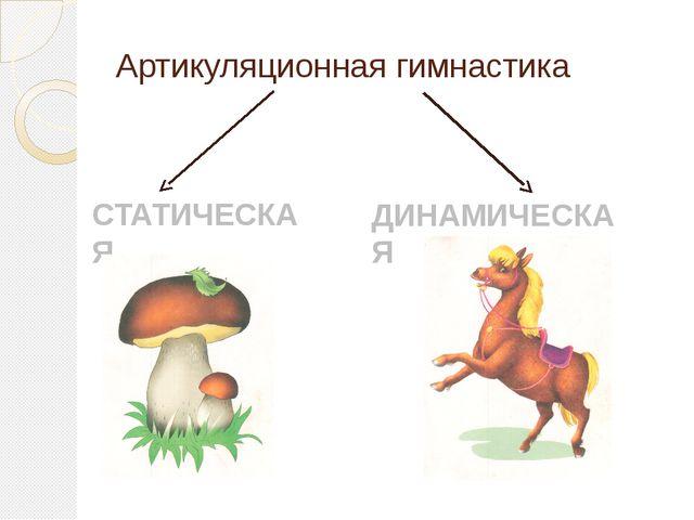 Артикуляционная гимнастика СТАТИЧЕСКАЯ ДИНАМИЧЕСКАЯ