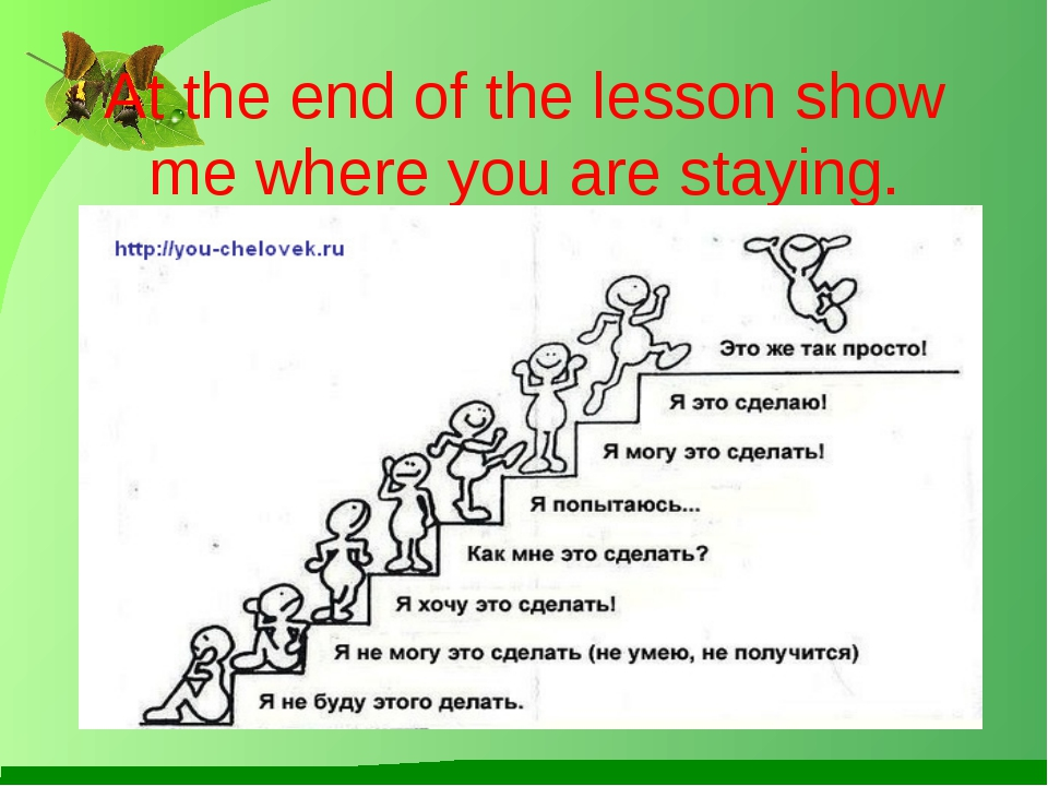 At the end of the lesson show me where you are staying.