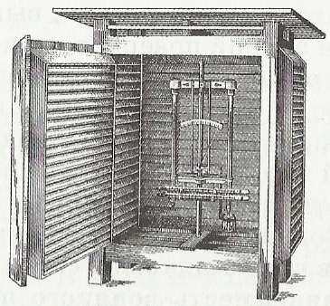 Будка для термометра на метеостанциях