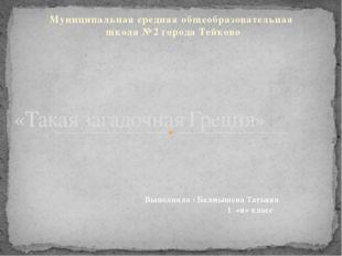 Муниципальная средняя общеобразовательная школа №2 города Тейково «Такая зага