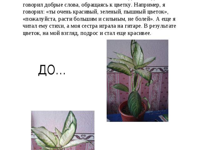 Меня очень заинтересовал эксперимент ученых с семенами растений, поэтому я ре...