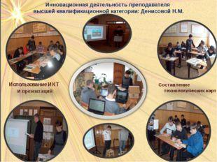 Инновационная деятельность преподавателя высшей квалификационной категории: Д