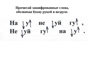 Прочитай зашифрованные слова, обозначая букву рукой в воздухе.