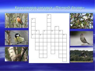 Кроссворд-загадка «Птичий базар»