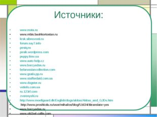Источники: www.mota.ru www.mbis.bashkortostan.ru krsk.sibnovosti.ru forum.say