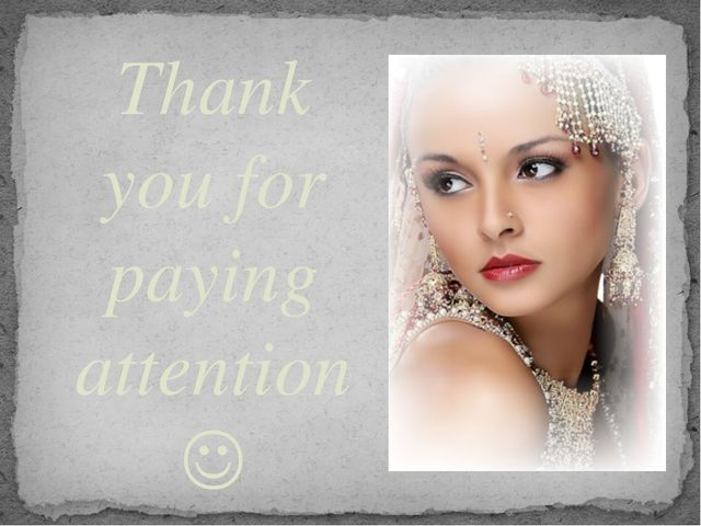 Thank you for paying attention