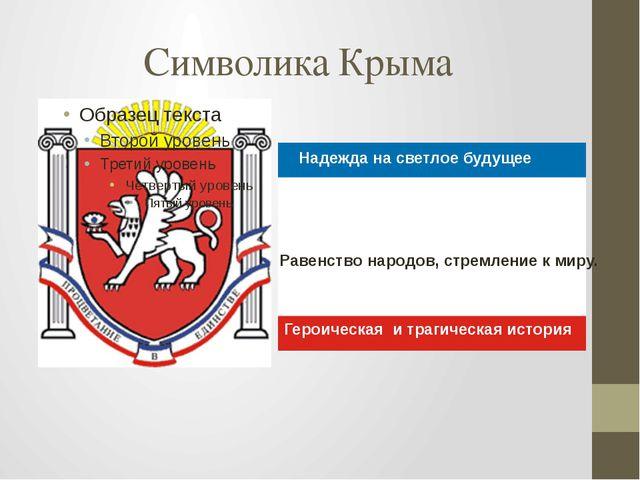 Символика Крыма Надежда на светлое будущее Героическая и трагическая история...