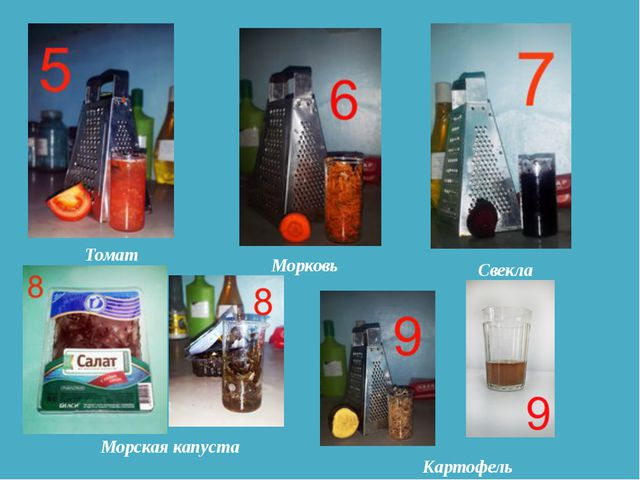 Томат Морковь Свекла Морская капуста Картофель