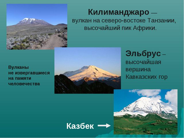 Килиманджаро — вулкан на северо-востоке Танзании, высочайший пик Африки. Эль...