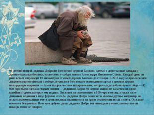 98-летний нищий, дедушка Добри из болгарской деревни Баилово, одетый в домот