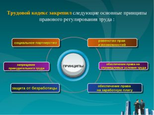 запрещение принудительного труда социальное партнерство защита от безработицы