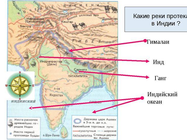 Индийский океан Ганг Гималаи В какой части Азии находится Индия? Южной Азии...