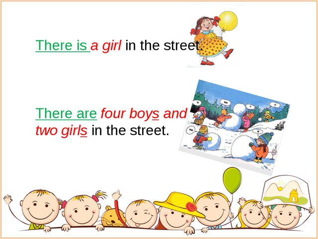 There is a girl in the street. There are four boys and two girls in the stre...