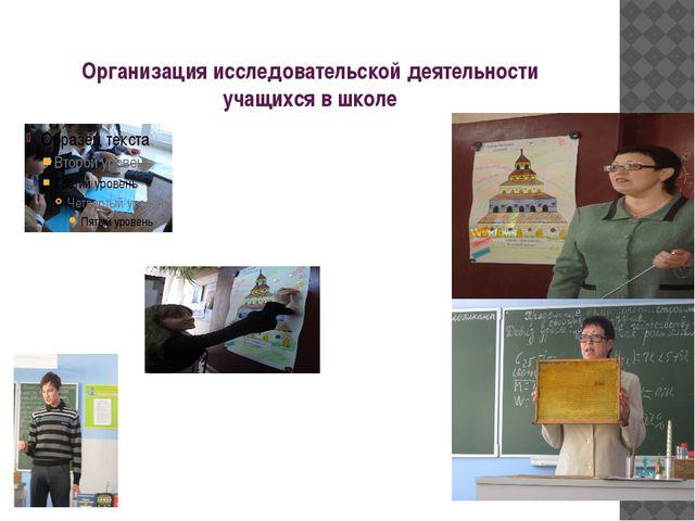 Организация исследовательской деятельности учащихся в школе