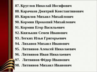 Круглов Николай Иосифович Карачков Дмитрий Константинович Кирилов Михаил Миха
