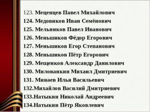 Меценцев Павел Михайлович Медовиков Иван Семёнович Мельников Павел Иванович