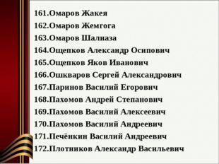 Омаров Жакея Омаров Жемгога Омаров Шалиаза Ощепков Александр Осипович Ощепков