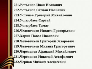 Устьянов Иван Иванович Устьянов Степан Иванович Устинов Григорий Михайлович У