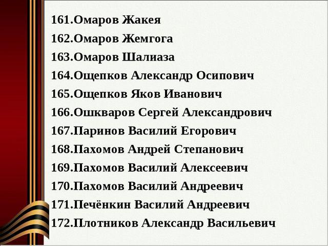 Омаров Жакея Омаров Жемгога Омаров Шалиаза Ощепков Александр Осипович Ощепков...