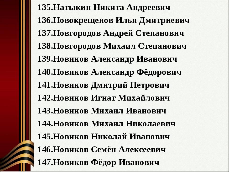 Натыкин Никита Андреевич Новокрещенов Илья Дмитриевич Новгородов Андрей Степа...