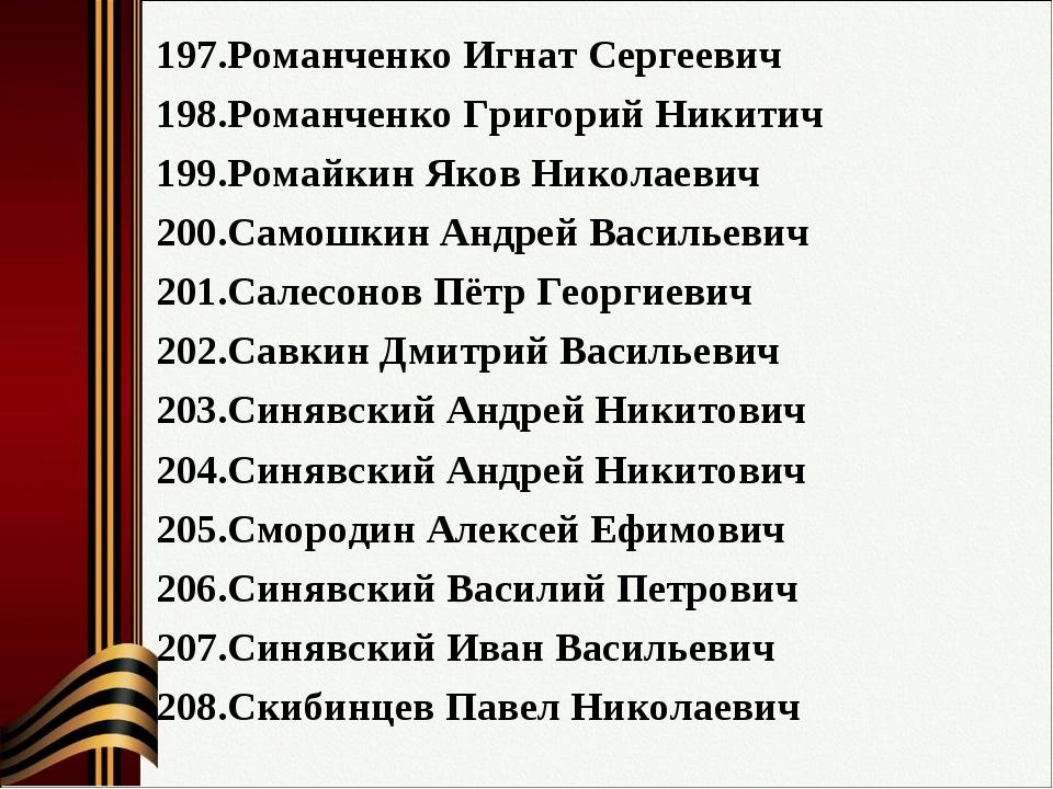 Романченко Игнат Сергеевич Романченко Григорий Никитич Ромайкин Яков Николаев...