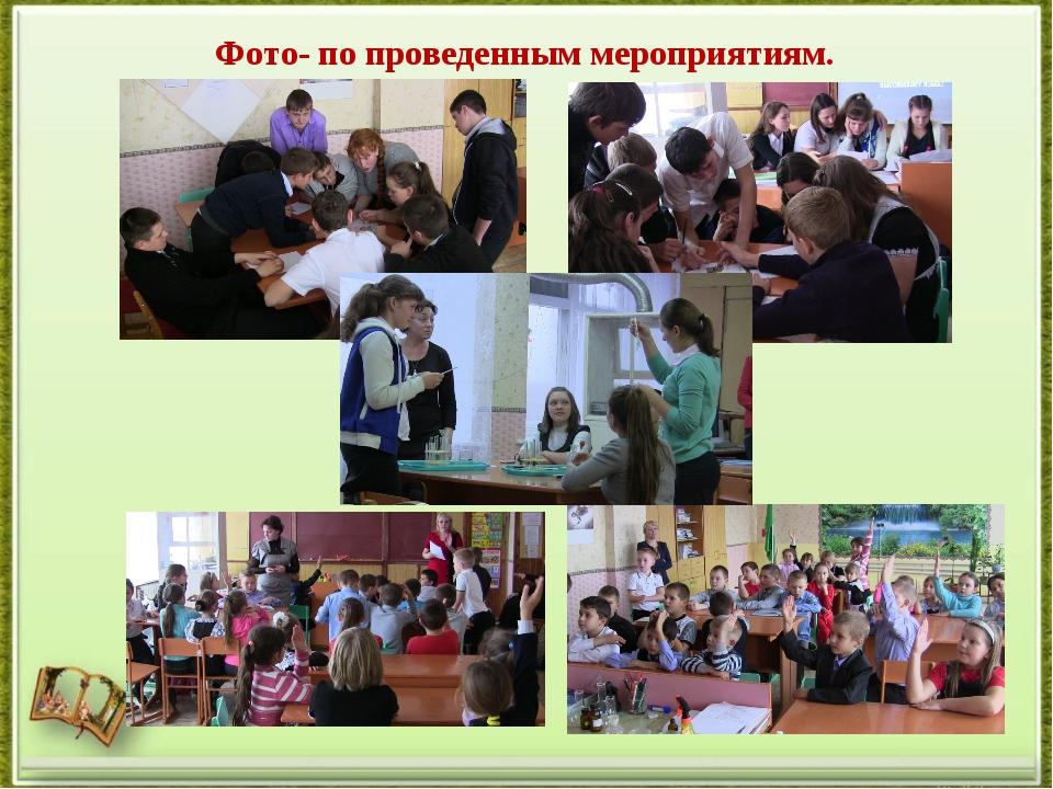 Фото по проведенным мероприятиям.