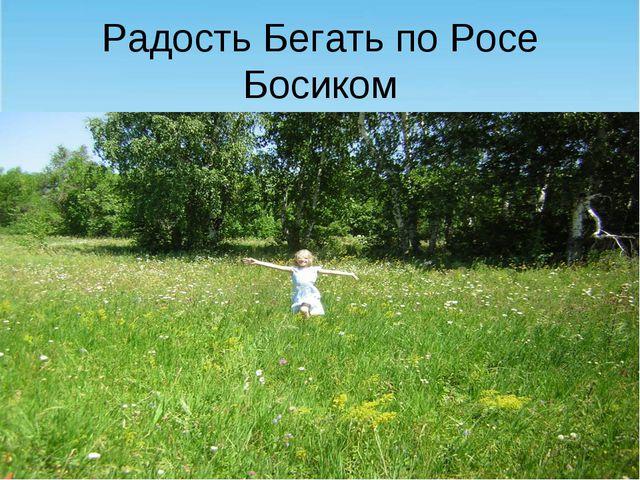 Радость Бегать по Росе Босиком