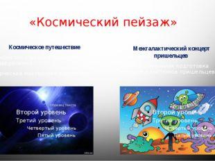 «Космический пейзаж» Космическое путешествие 1.Знакомство с музыкальными прои